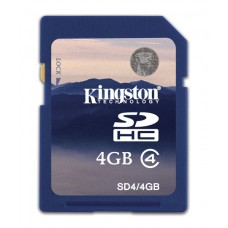 SDHC Card 4GB Kingston Class 4